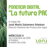 """JORNADA DIGITAL """"LA FUTURA PAC"""" EN LA LONJA AGROPECUARIA DE BINEFAR"""