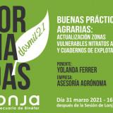 BUENAS PRÁCTICAS AGRARIAS: ACTUALIZACION ZONAS VULNERABLES NITRATOS ARAGON Y CUADERNOS DE EXPLOTACIÓN
