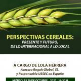 DISPONIBLE  JORNADA DIGITAL  PERSPECTIVAS CEREALES: PRESENTE Y FUTURO, DE LO INTERNACIONAL A LO LOCAL